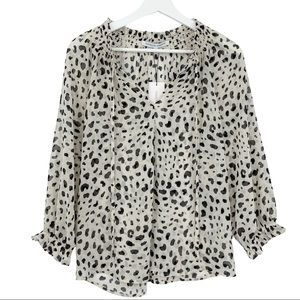 Collective Concepts NWT Small Animal Print Blouse